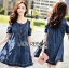 Lady Ribbon Flower Cut-Out Ripped Washed Denim Dress thumbnail 2