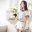 Seoul Secret ชุดเซ็ท เสื้อและกระโปรงกางเกง โทนสีขาวดำ thumbnail 4