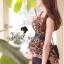 Seoul Secret เสื้อชีฟองลายเสือ แต่งระบายผ้าแก้ว thumbnail 1