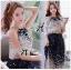 Lady Ribbon Maxi Dress เดรสยาวผูกคอพิมพ์ลายดอกไม้สไตล์เซ็กซี่ thumbnail 3