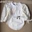 Lady Ribbon เสื้อผ้าคอตตอนตัดต่อผ้าลูกไม้ช่วงแขน สีขาว สีดำ thumbnail 9