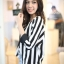Chic Black n White Striped Jacket thumbnail 5