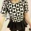 Lady Ribbon Black&White Set ชุดเซ็ทเสื้อกางเกง พิมพ์ลายกราฟฟิค thumbnail 7