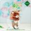 ตุ๊กตา หมี กระถางเซรามิค พร้อมชุดปลูกต้นอ่อน เมล็ดพันธุ์ Clover thumbnail 1