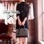 Lady Ribbon Lace Cardigan เสื้อคลุม ช่วงไหล่แต่งผ้าซีทรู สีขาว สีดำ thumbnail 3
