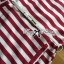 Lady Ribbon Pearl Embellished Stripped Red Dress thumbnail 7
