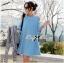 Lady Ribbon Cut-Out Loose Denim Dress thumbnail 4
