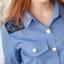Sweet Blue Shirt เสื้อตัวยาว สีฟ้า ตัดต่อผ้าลูกไม้ช่วงหลังและกระโปรง thumbnail 9