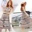 Lady Ribbon Floral Maxi Dress แมกซี่ชีฟองพิมพ์ลายลูกไม้ thumbnail 7