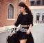 Lady Ribbon Glam Chic Evening-wear Maxi Dress thumbnail 8