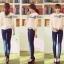 Lady Ribbon Lace Top เสื้อปักฉลุ แขนยาวฉลุลาย thumbnail 9