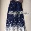 Lady Ribbon Maxi Dress เดรสยาวผูกคอพิมพ์ลายดอกไม้สไตล์เซ็กซี่ thumbnail 8