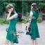 Lady Ribbon มินิเดรสแขนกุด สีเขียว ชายกระโปรงทรงเก๋ๆ thumbnail 3