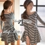 Lady Ribbon Mixed Striped Easy Dress thumbnail 4