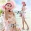 Lady Ribbon Sweet Floral Printed Silk Cotton Ruffle Dress thumbnail 5