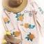 Cliona มินิเดรสสีพาสเทล สไตล์โบฮี่เมี่ยน ปักดอกกุหลาบสีส้ม thumbnail 6