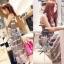 Lady Ribbon Floral Maxi Dress แมกซี่ชีฟองพิมพ์ลายลูกไม้ thumbnail 4