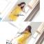Lady Ribbon เดรสแขนกุด ผ้าชีฟอง ทรงกระโปรงพริ้วสวย สีชมพู ขาว เหลือง thumbnail 3