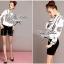 Lady Ribbon เสื้อเชิ้ตพิมพ์ลาย Chanel พร้อมผ้าพันคอ thumbnail 4