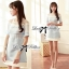 Lady Ribbon Baby Blue Graphic Dress thumbnail 5