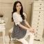 IceVanilla Dress เดรสลาย Shinori แต่งผ้าลูกไม้ thumbnail 6