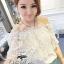 Odee Cutie Classy Lace Blouse เสื้อลูกไม้ทรงcrop เกาะไหล่ สีขาว thumbnail 7
