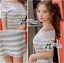 Lady Ribbon Lady Cherline Smart Casual Striped Lace Dress thumbnail 6