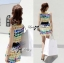 Lady Ribbon Lady Coco Chanel Colorful Painting Dress Set thumbnail 5