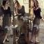 Lady Ribbon Fluffy Maxi Dress แม็กซี่ผ้ายืด กระโปรงผ้าซีทรู thumbnail 5