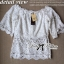 Lady Ribbon Sweet Vintage Off-Shoulder Lace Top thumbnail 11