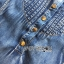 Lady Ribbon Flower Cut-Out Ripped Washed Denim Dress thumbnail 8