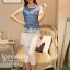 Icevanilla Star Stitching Lace Bottoming Denim Dress thumbnail 1