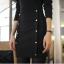 Little Black Dress by Cherry KOKO เดรส ผ้าเนื้อผสมลายตาราง แต่งกระดุมเก๋ๆ thumbnail 7