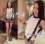 Lady Ribbon ชุดเซ็ตเสื้อทรงเอี๊ยมและกางเกงขาสั้นลายทาง thumbnail 4