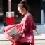 เสื้อผ้าฝ้ายสีแดง มีสายเชือกไขว้ที่อก แต่งไหมพรมถัก thumbnail 3