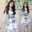 Lady Ribbon Givenchy Print Mini Dress มินิเดรสผ้าซิลค์พิมพ์ลาย thumbnail 6