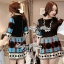 Bohemian Style Dress มินิเดรสแขนสั้น ลายกราฟฟิก thumbnail 7