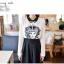Icevanilla เสื้อแต่งด้วยผ้าพิมพ์ลายหน้าแมวประดับมุกและลูกปัด thumbnail 9