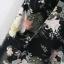 จั๊มสูทขาสั้น ผ้าชีฟองเนื้อทราย พิมพ์ลายดอกไม้ thumbnail 7