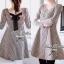 Lady Ribbon Shinori Mini Dress มินิเดรสลายชิโนริแขนยาว แต่งโบว์ thumbnail 5