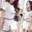 Seoul Secret ชุดเซ็ท เสื้อและกระโปรงกางเกง โทนสีขาวดำ thumbnail 7