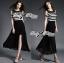 Lady Ribbon Cut-Out Shoulder Striped Maxi Dress thumbnail 5