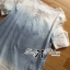 Lady Ribbon Ripped Washed Denim Dress thumbnail 10
