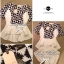 Lady Ribbon Black&White Set ชุดเซ็ทเสื้อกางเกง พิมพ์ลายกราฟฟิค thumbnail 10