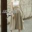 Lady Ribbon Vintage Set เสื้อแขนกุดผ้าแก้วลายลูกไม้กับกระโปรงบาน thumbnail 1