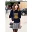 Cherry Dress เสื้อแขนยาว พิมพ์ลายนกฮูกด้านหน้า สีกรมท่า สีเทา thumbnail 4