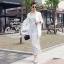 Odee Cutie Black&White Polka Dot Jumpsuit จั๊มสูทขายาว ลายจุด thumbnail 2