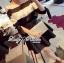 Lady Ribbon เสื้อปาดไหล่พิมพ์ลายทางประดับโบช่วงแขน thumbnail 2