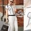 Chanel black&white line jumpsuit จั๊มสูทขายาว สีขาวดำ thumbnail 2