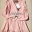 Lady Ribbon เสื้อคลุมแขนยาว สีชมพูอ่อน สีครีม ชายเสื้อต่อผ้าชีฟอง thumbnail 12